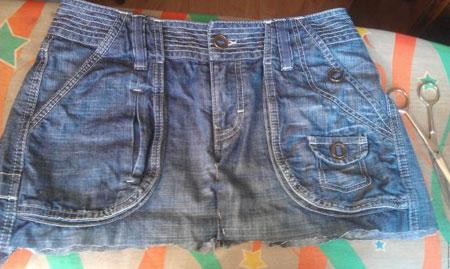 آموزش تصویری دوخت کیف جین با شلوار جین کهنه