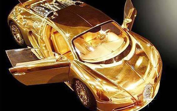 تصاویر بوگاتی از جنس طلا