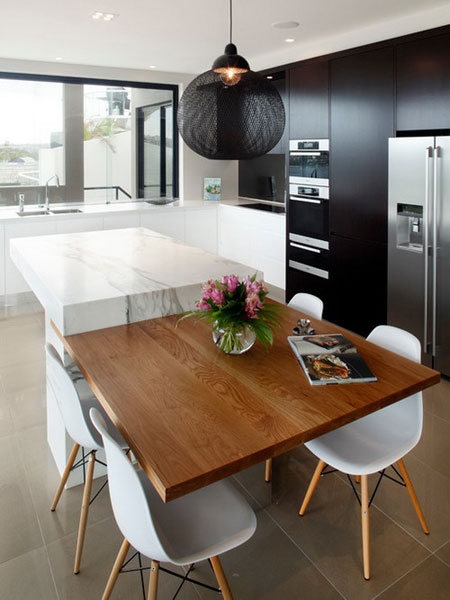 نقش مرمر و گرانیت در زیبایی آشپزخانه