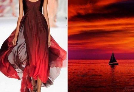 مدل لباس های زیبا با الهام از طبیعت 2015