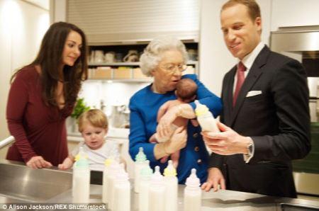 تصاویر بچه دار شدن ملکه انگلیس در این سن !؟