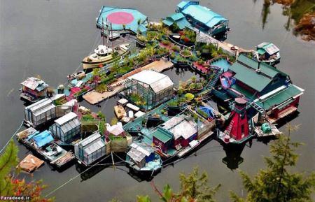 متفاوت ترین خانه زوجی شناور روی دریا