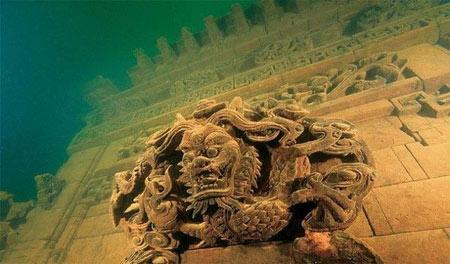 تصاویر شهر گمشده زیر آب در چین