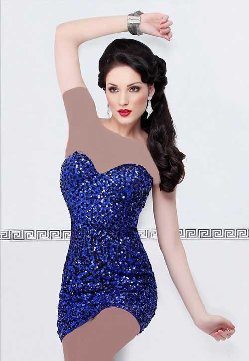 مدل های تک لباس مجلسی زنانه کوتاه 2015