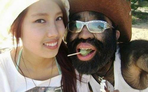 عشق دختر زیبا به مرد میمونی