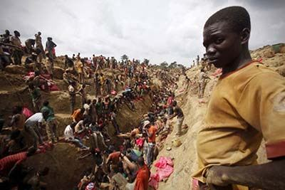 تصاویر جالب استخراج طلا در ساحل عاج