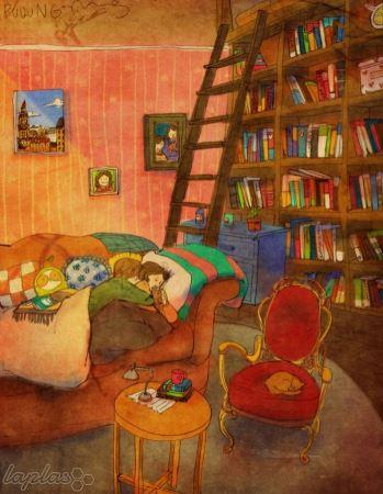 نقاشی از لحظات عاشقانه در زندگی