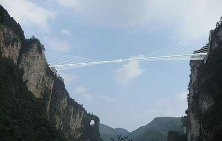 ترسناک ترین طولانی ترین پل شیشه ای و دیدنی جهان