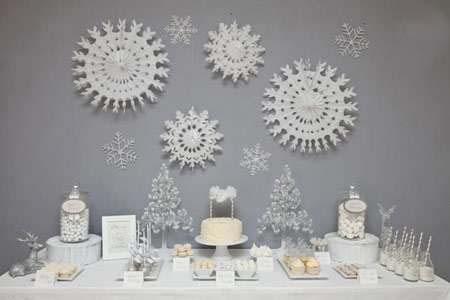 دیزاین مراسم تولد با تم برف