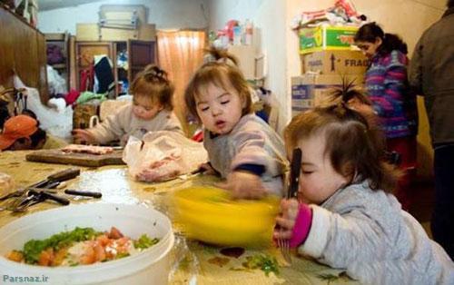 این دختر جوان با 7 فرزندش چگونه زندگی میکند ( عکس)
