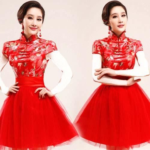 کلکسیون مدل لباس شب کوتاه قرمز زنانه و دخترانه 94