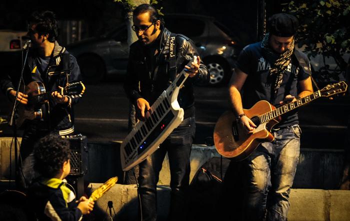تصاویر زیبا از کنسرت های خیابانی در تهران