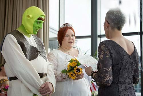 انتشار عکس های ازدواج شرک و فیونا