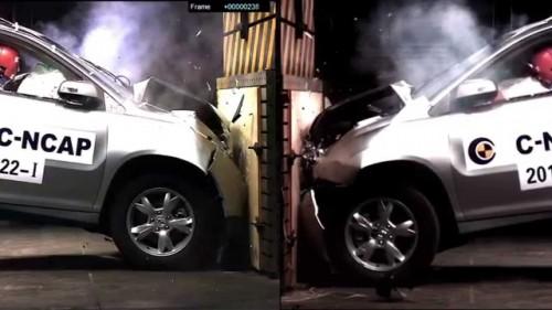 تصاویر تست بررسی نتایج ایمنی خودروها و امتیاز دهی بر مبنای ستاره