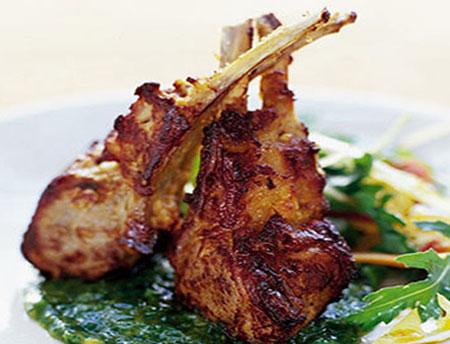 طرز تهیه گوشت دنده بره با ادویه هندی