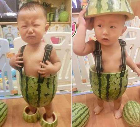 لباس های تابستونی عجیب این کودک