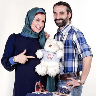 انتشار عکس عریان از فرزند ماه چهره خلیلی و همسرش