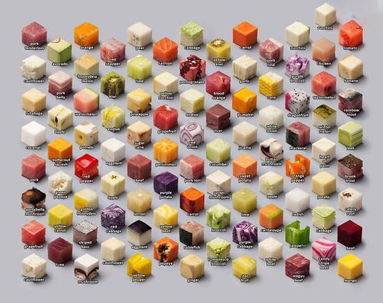 تصاویر جالب از مکعب های خوش مزه
