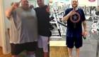 کاهش وزن تصویری حیرت انگیز جوان با اراده