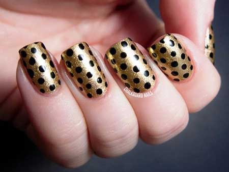 زیباترین مدل های دیزاین ناخن طلایی مشکی