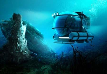 تصاویر سفرهای جالب دریایی با زیر دریایی Manatee