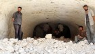 بیمارستان معدنی در سوریه +عکس