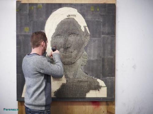 هنرمندی که با پیچ آثار بسیار زیبایی خلق کرده است