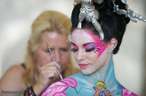 تصاویر دیدنی فستیوال جالب نقاشی روی بدن زنان در اتریش