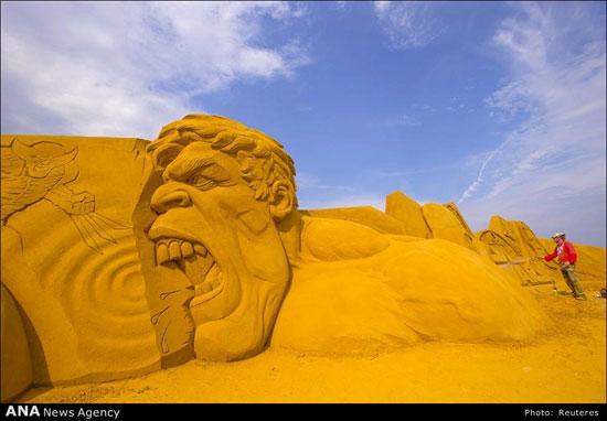 عکس های دیدنی از جشنواره مجسمه های شنی بلژیک