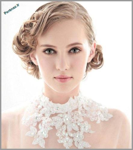 کامل ترین و زیباترین شنیون های عروس 2015