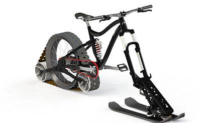 طراحی نوعی دوچرخه متحرک روی برف