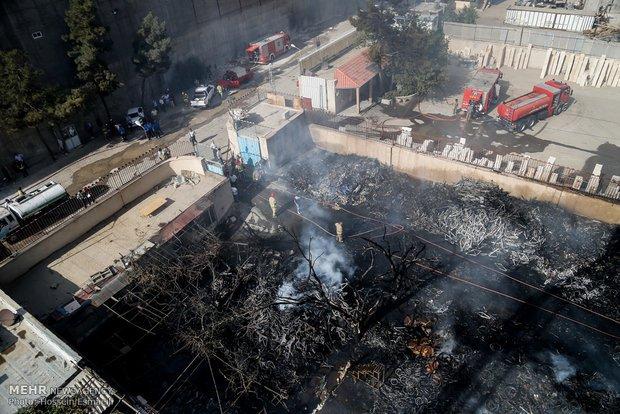 آتش سوزی کارخانه روغن نباتی گلنار در حومه شهر گلنار