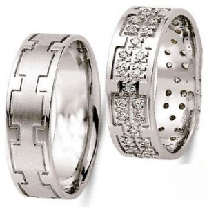 جدید ترین مدل حلقه های طلا سفید و پلاتین با دیزاین برلیان
