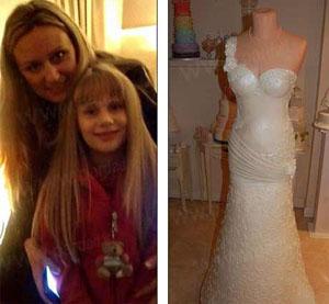 ایده این مادر و دختر برای درست کردن لباس عروس خوشمزه