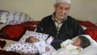 پیرمرد 85 ساله و همسر 46 ساله اش صاحب فرزندان دوقلو شدند