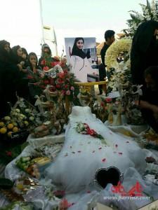 تصاویر مراسم عزای متفاوت نو عروس دانشجوی پزشکی در ایران