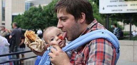 عکس های عجیب از پدر های دیوانه و بی احساس