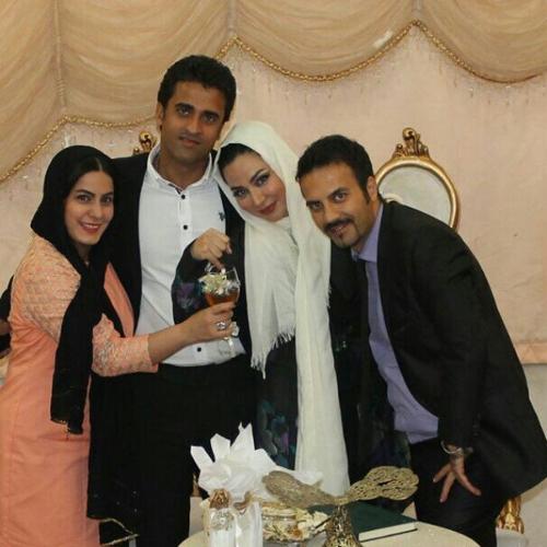 انتشار تصاویر عقد فقیهه سلطانی و همسر فوتبالیستش جلال امیدیان