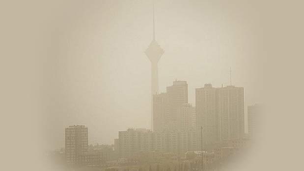 تهران زیر انبوه گرد و غبار مدفون شد