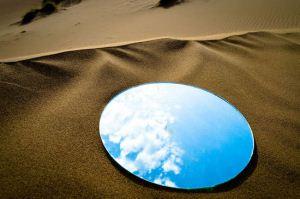 تصاویر زیبای انعکاس آینه در کویر ایران
