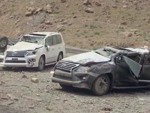 تصاویر واژگونی لکسوس های میلیاردی در ایران
