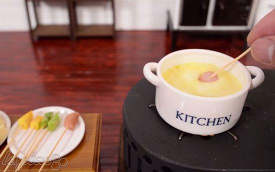 تصاویر غذاهای مینیاتوری در فضای مینیاتوری
