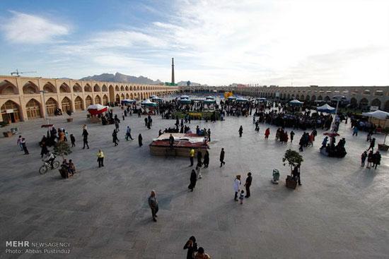 تصاویر بازسازی دوران سلجوقی در میدان امام علی اصفهان