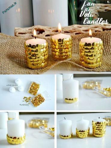 تزئین های زیبای شمع برای زیبایی دکوراسیون منزل و محل کار