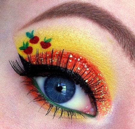 زیباترین آرایش چشم های فانتزی 2015