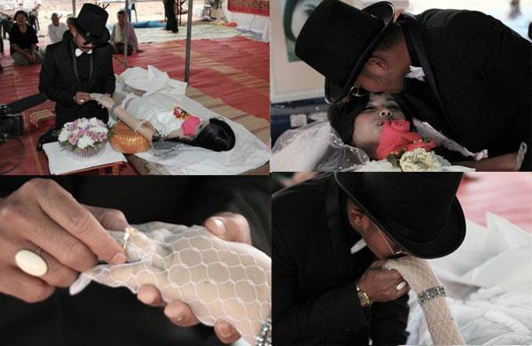این مرد با عروس مردگان ازدواج کرد