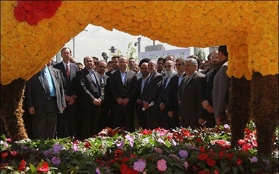 افتتاح نمایشگاه گل و گیاه تهران با حضور قالیباف شهردار تهران