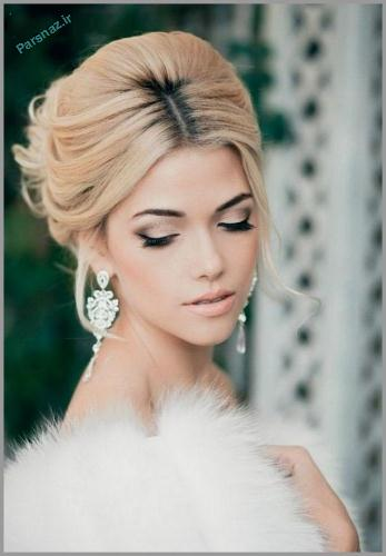 کامل ترین و زیباترین شنیون های عروس 2017