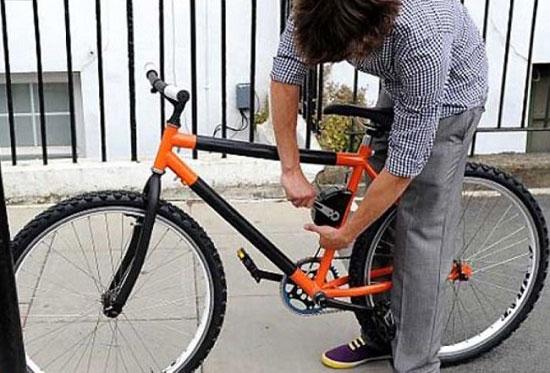 تصاویر دوچرخه فوق حرفه ای تاشو زد سرقت