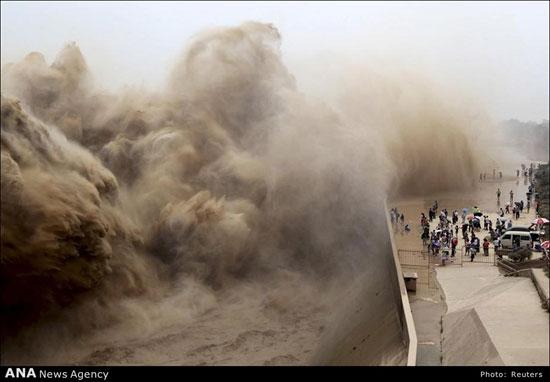 تصاویر دلهره آور رودخانه زرد یا  مصیبت چین